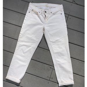 NWOT: J-CREW WOMEN'S OFF-WHITE CREAM CAPRI'S 27